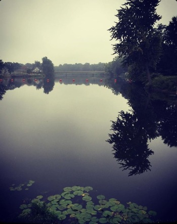 The St. Joseph River in the summertime. This picture was taken in the mid-morning.