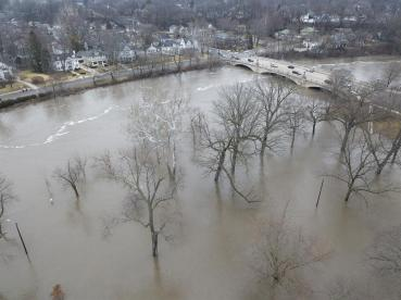 St Joseph River in South Bend